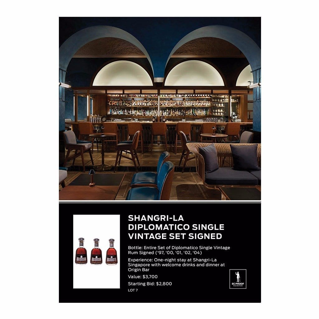 Shangri-La Diplomatico Single Vintage Set Signed