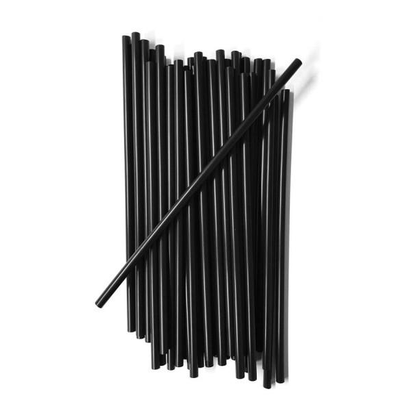 BIO-POT Black Biodegradable Straws (40 in a pack)