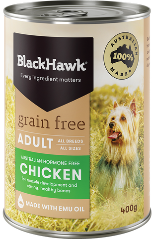 Black Hawk Dog Grain Free Chicken 400gm