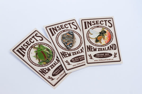 Set of three insect pins