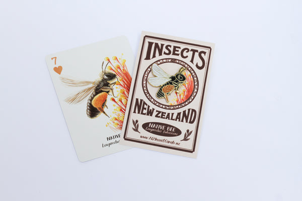 Native bee enamel pin