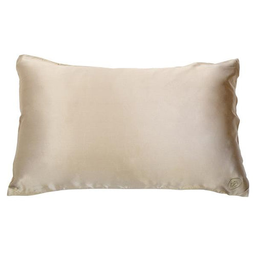 Shimmering Nude Silk Pillow Case