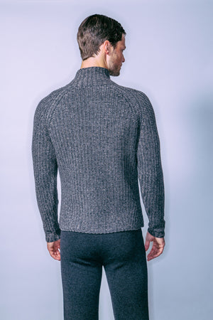 Men's Mockneck Zip-up