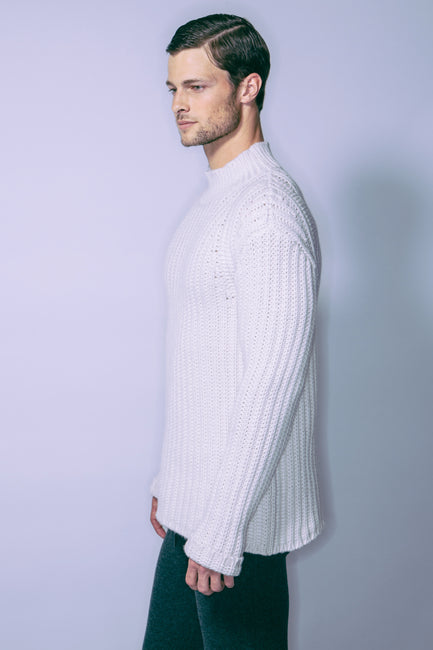 Men's Chunky Mockneck Sweater