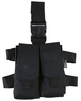 M4 Double Mag Drop Leg Holster - Black