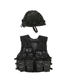 .Kids Assault Vest & Helmet Set - BTP BlackNORTHVIVOR