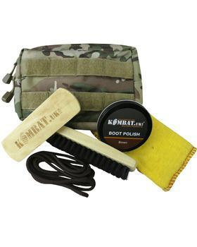 Deluxe Molle Boot Care Kit Brown Polish & Laces