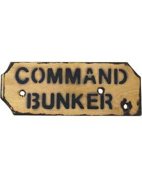 Command Bunker Sign