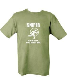 Sniper Die Tired T-shirt - Olive Green XL