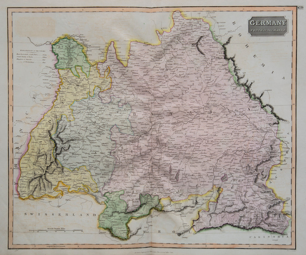 Thomson Map Southern Germany 1816 Floralia Gallery