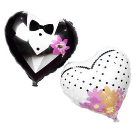 Bride & Groom Heart Foil Balloon