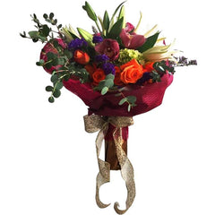 Luxury Hand Tied Bouquet With Roses And Lily