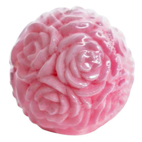 Sweet Gracie Candle Ball Rose Small - Pink - Rose Scent (Lilin Wangi)