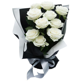 Simply Charming Rose Bouquet - Pure White