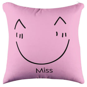 Miss Smile Bright Pink Pillow