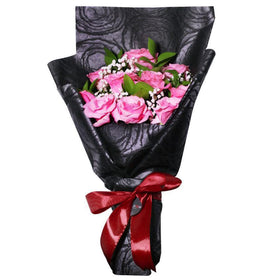 The Classic Midnight Hand Bouquet Sweet Pink