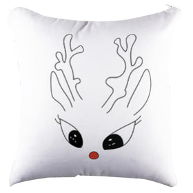 Raindeer White Pillow