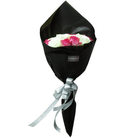 Black Pearl White Pink Small Bouquet
