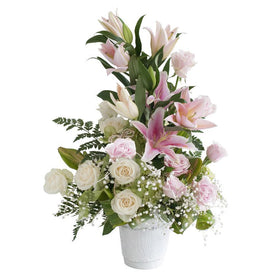 Pink & White Exquisite in Vase