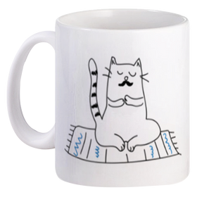 Mug Couple Mr Cat do Yoga