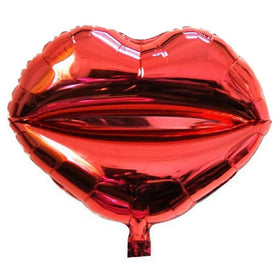 Red Lips Foil Balloon