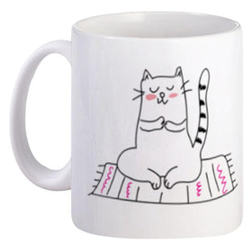 Mug Couple Mrs Cat do Yoga