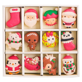 Le Sucre Christmas Series Santa Box of 12