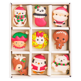 Le Sucre Christmas Series Santa Box of 9