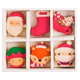 Le Sucre Christmas Series Santa Box of 6