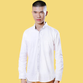 Menssentials Embroidered White Shirt