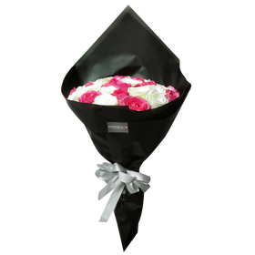Black Pearl White Pink Big Bouquet