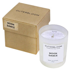 Outerbloom Candle Moon Dance in Frosted Glass
