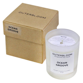 [US] Outerbloom Candle Ocean Groove in Frosted Glass