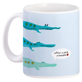 Mug Couple Crocodile Blue