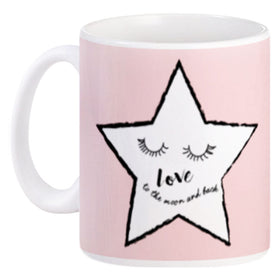 Mug Couple Loving Star Pink