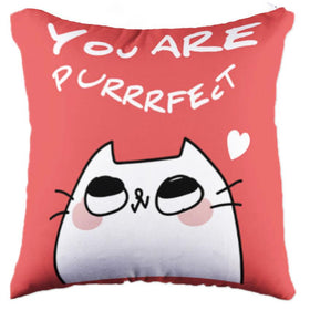 Purrrfect Miss Cat Pillow
