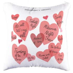 Shakespeare's Comedies Pillow