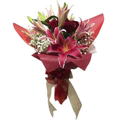 Luxury  Lily & Rose Hand Tied Bouquet