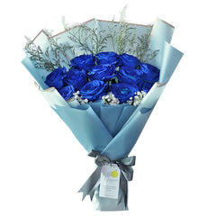 Majestic Blue Romance Bouquet