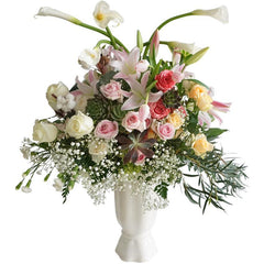 Stunning Roses & Lillies In Vase