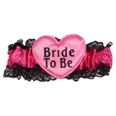 Bachelorette Bride to be Pink Garter - 1