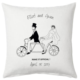 Make It Official Bicycle Pillow