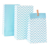 Blue Chevron Party Treat Bags