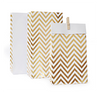 Gold Chevron Party Treat Loot bag