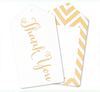Gold Chevron Thank you Tags