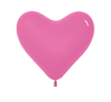 Pink 36cm Heart Shaped Latex Balloons