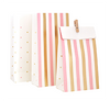 Pink & Gold Striped and Spots Party treat Loot Bags