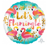 Let's Flamingle 45cm Foil Balloon