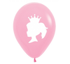 Pink Princess Birthday Party Balloon
