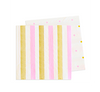 Pink & Gold Cocktail Napkin